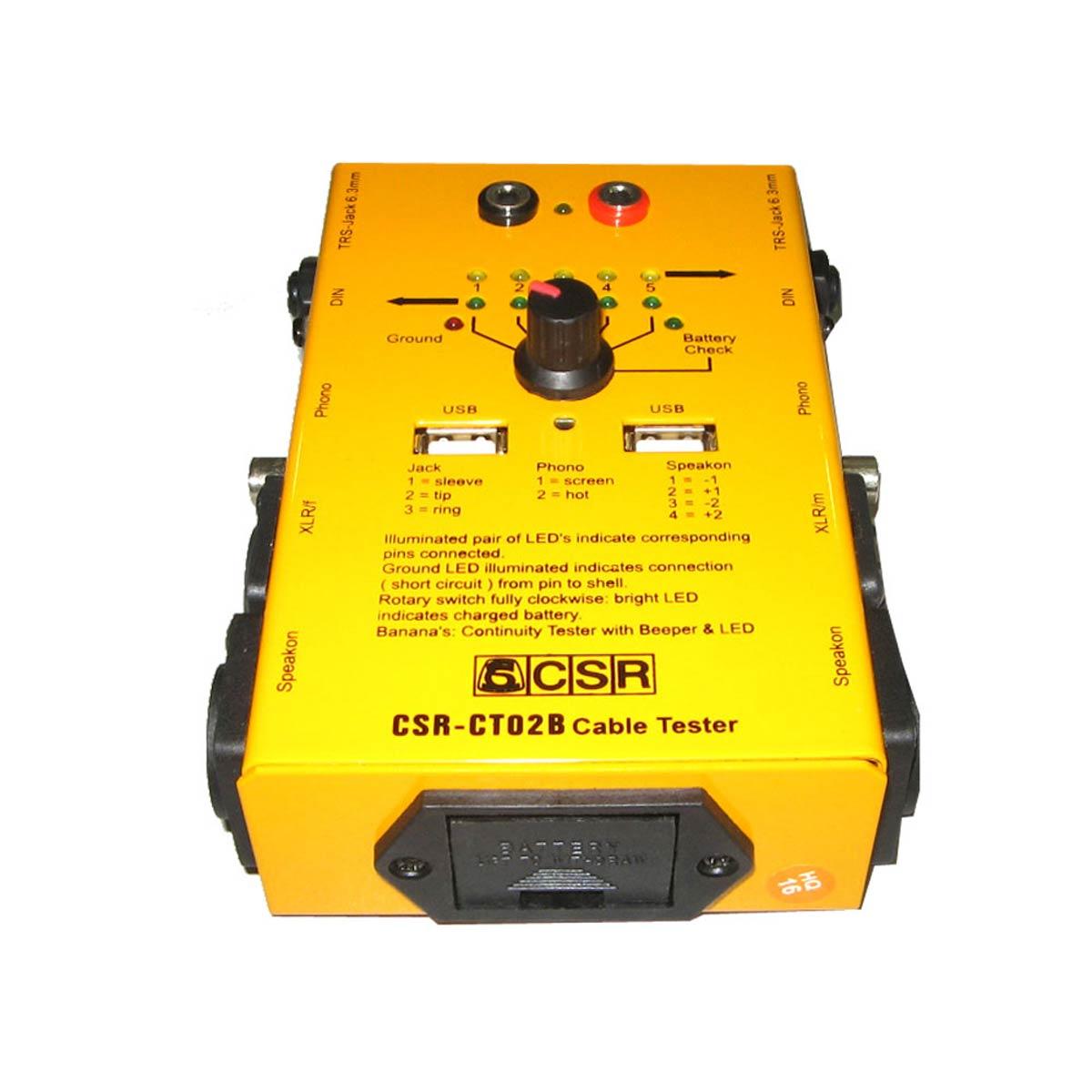 Testador de Cabos 6 Vias c/ USB - CT 02 B CSR