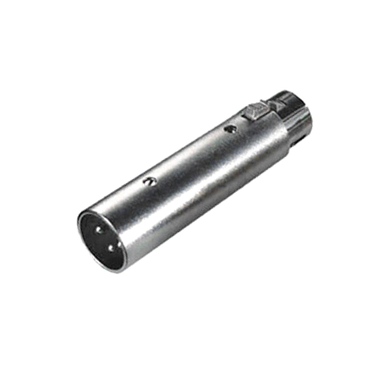 Plug Adaptador XLR-M / XLR-F c/ Trava SKC073 - CSR