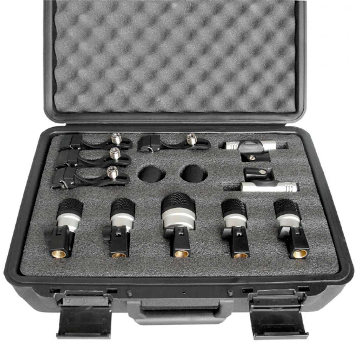 MXDS7 - Kit 7 Microfones c/ Fio p/ Bateria MXDS 7 - Yoga
