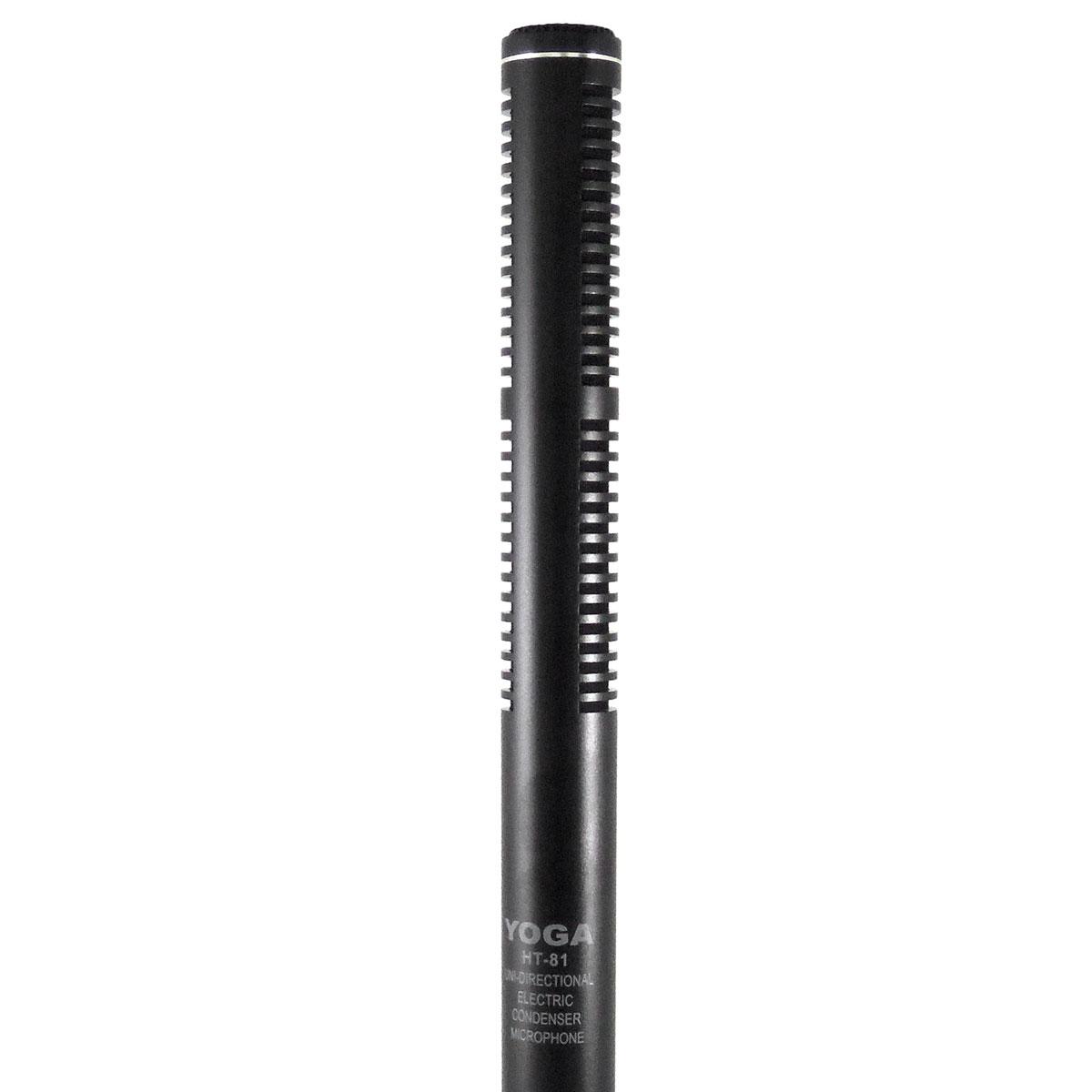 HT81 - Microfone c/ Fio Unidirecional p/ Filmadoras HT 81 - Yoga