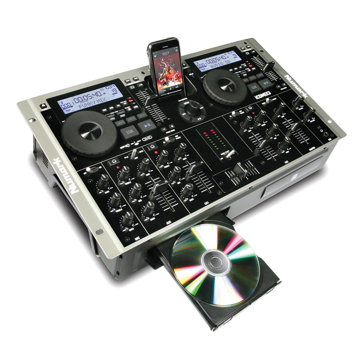 iCDMIX3 - CDJ Player Duplo c/ Dock p/ iPod iCD MIX 3 - Numark