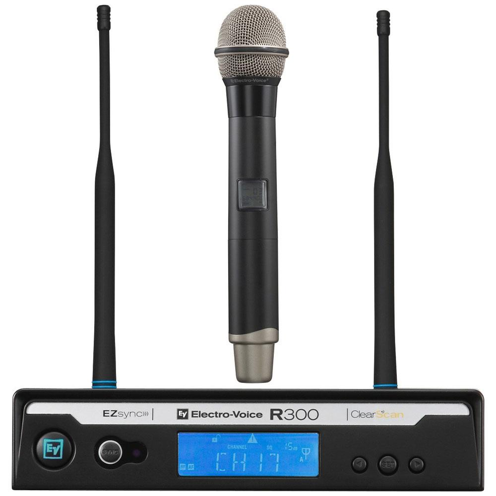 R300HDPL22 - Microfone s/ Fio de Mão UHF R 300 HD PL 22 - Electro-Voice