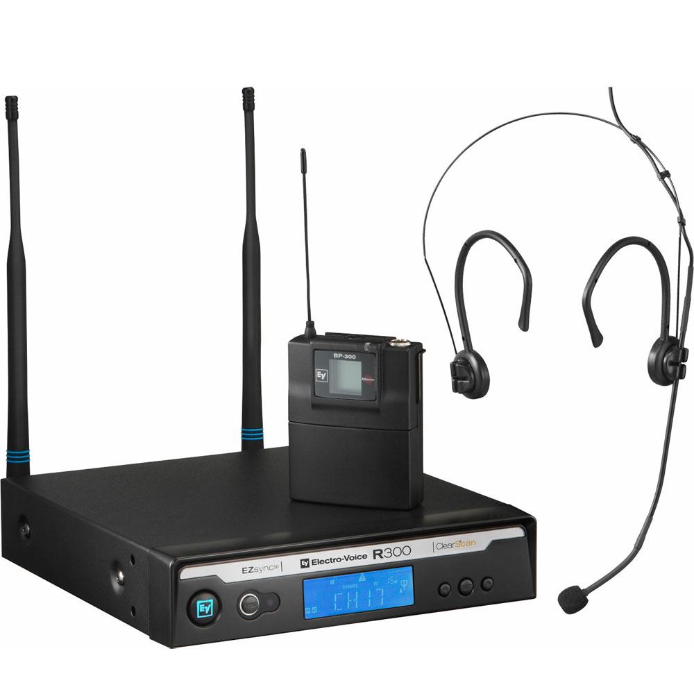 R300E - Microfone s/ Fio de Headset / Cabeça UHF R 300 E - Electro-Voice