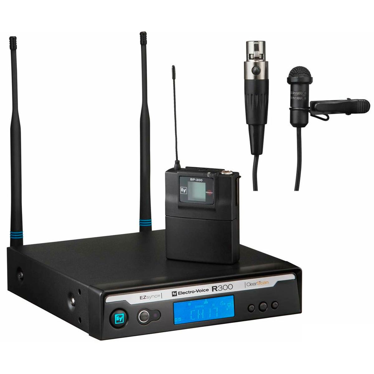 R300L - Microfone s/ Fio Lapela UHF R 300 L - Electro-Voice