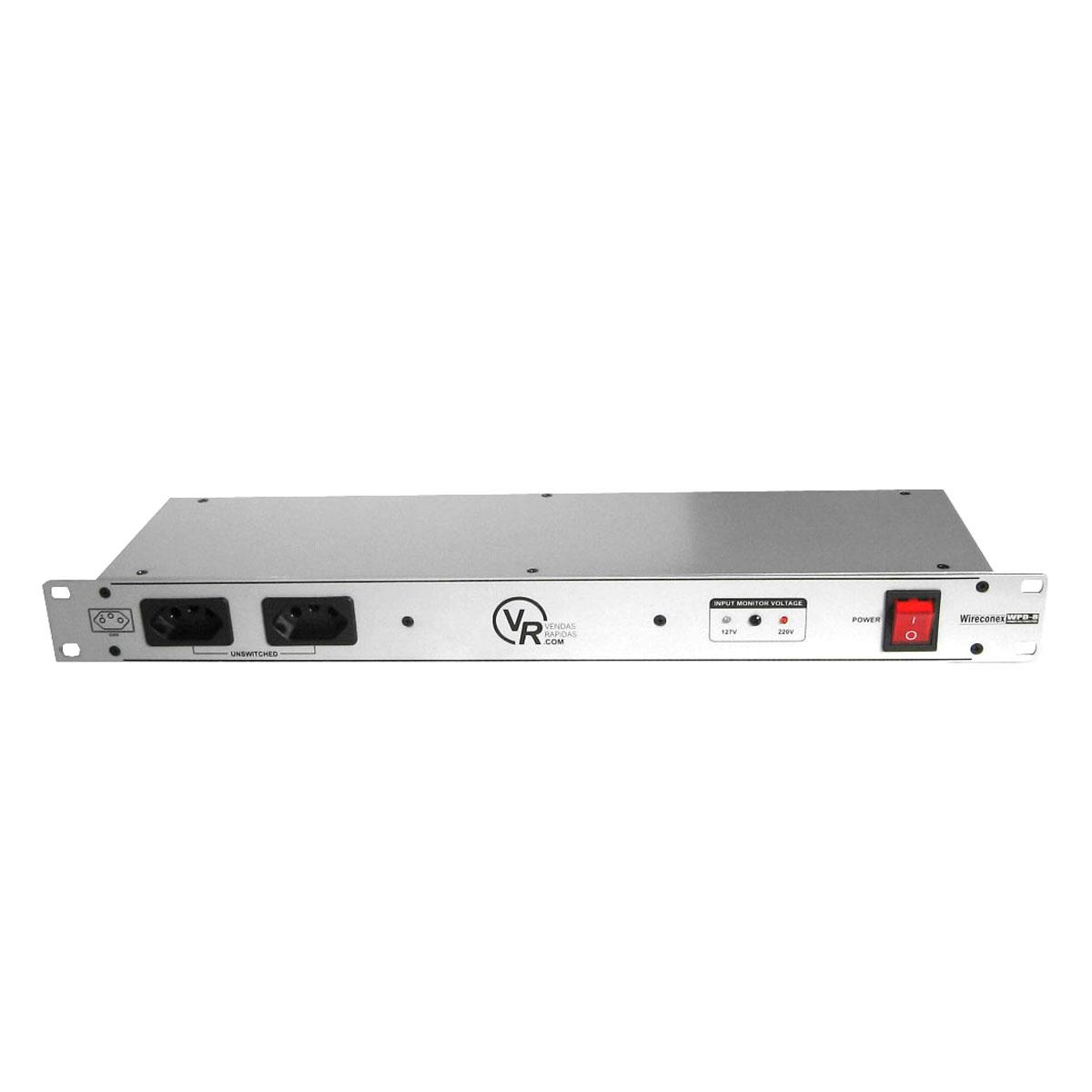 WPD8 - Filtro de Linha / Régua de Energia 3300W WPD 8 - VR Wireconex