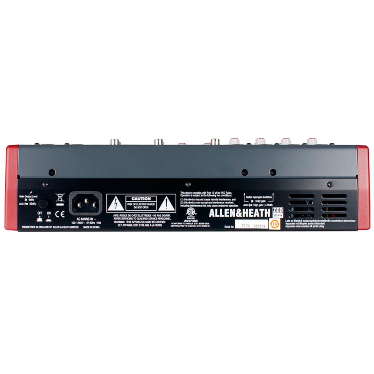 ZED10FX - Mesa de Som / Mixer 6 Canais USB ZED 10 FX - Allen Heath