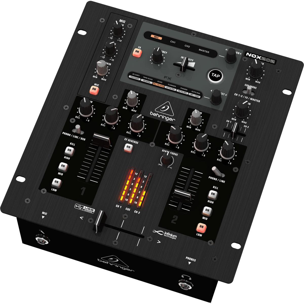 NOX202 - Mixer DJ 2 Canais NOX 202 - Behringer