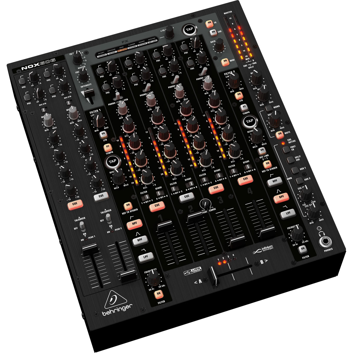 NOX606 - Mixer Dj 6 Canais NOX 606 - Behringer
