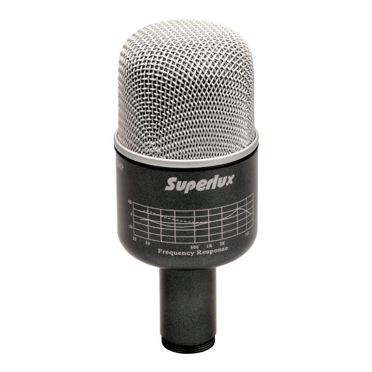 PRO218A - Microfone c/ Fio p/ Bumbo de Bateria PRO 218 A - Superlux