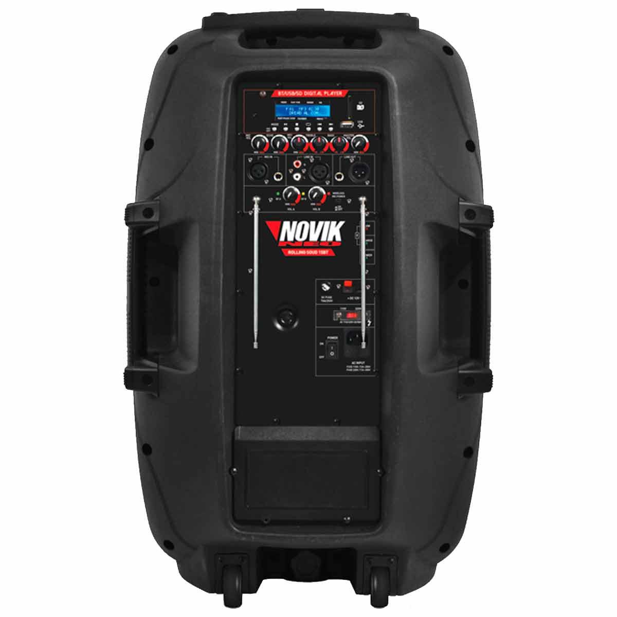 Caixa Portátil 100W c/ Bateria, Bluetooth e Usb Rolling Sound 15BT - Novik Neo