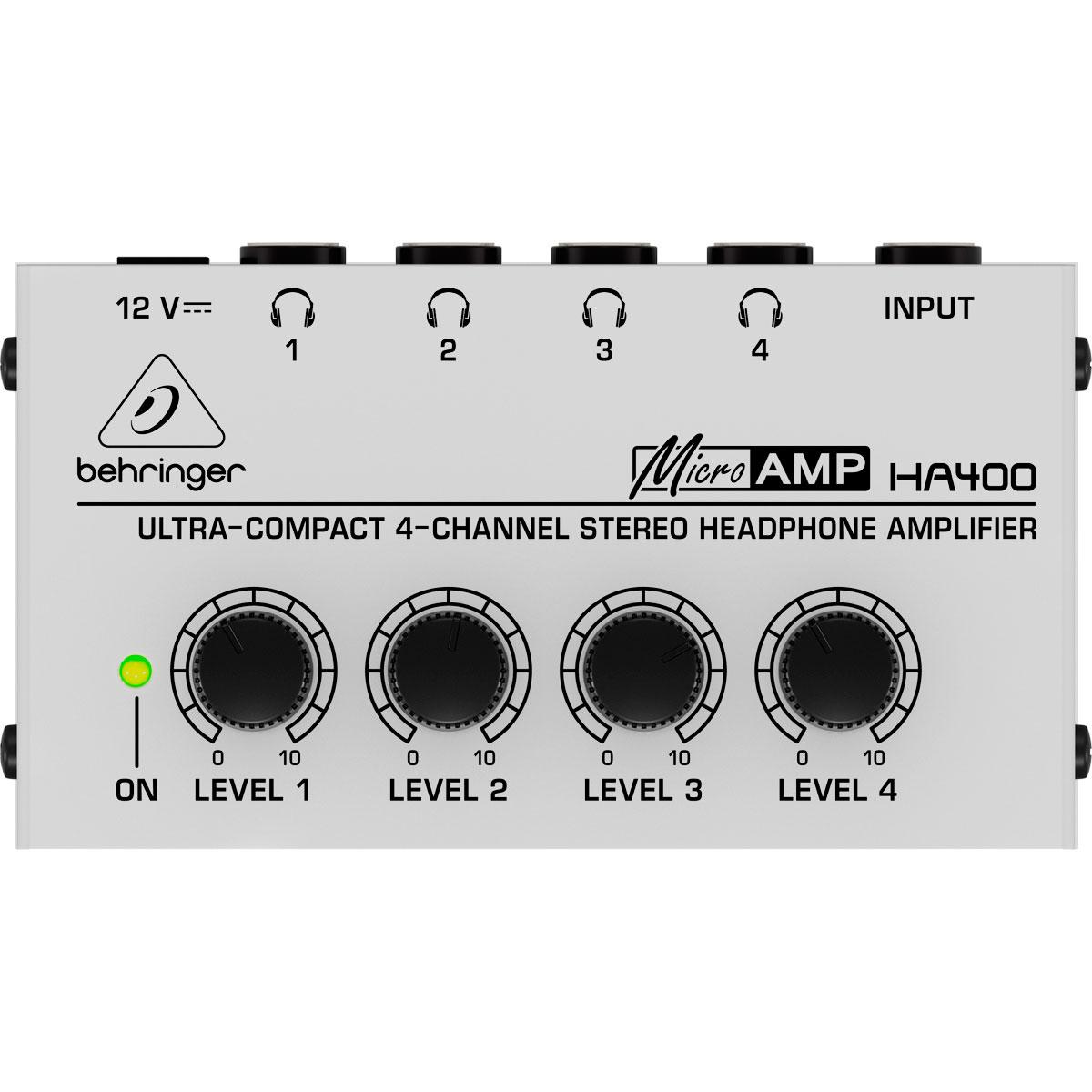 Amplificador p/ Fone de Ouvido 4 Canais HA 400 - Behringer