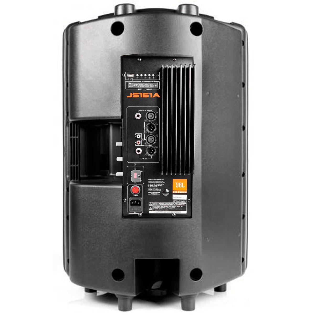 JS151A - Caixa Ativa 200W c/ Player USB JS 151 A - JBL