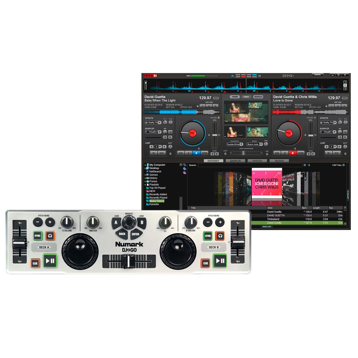 DJ2GO - Controladora Midi USB DJ 2 GO - Numark