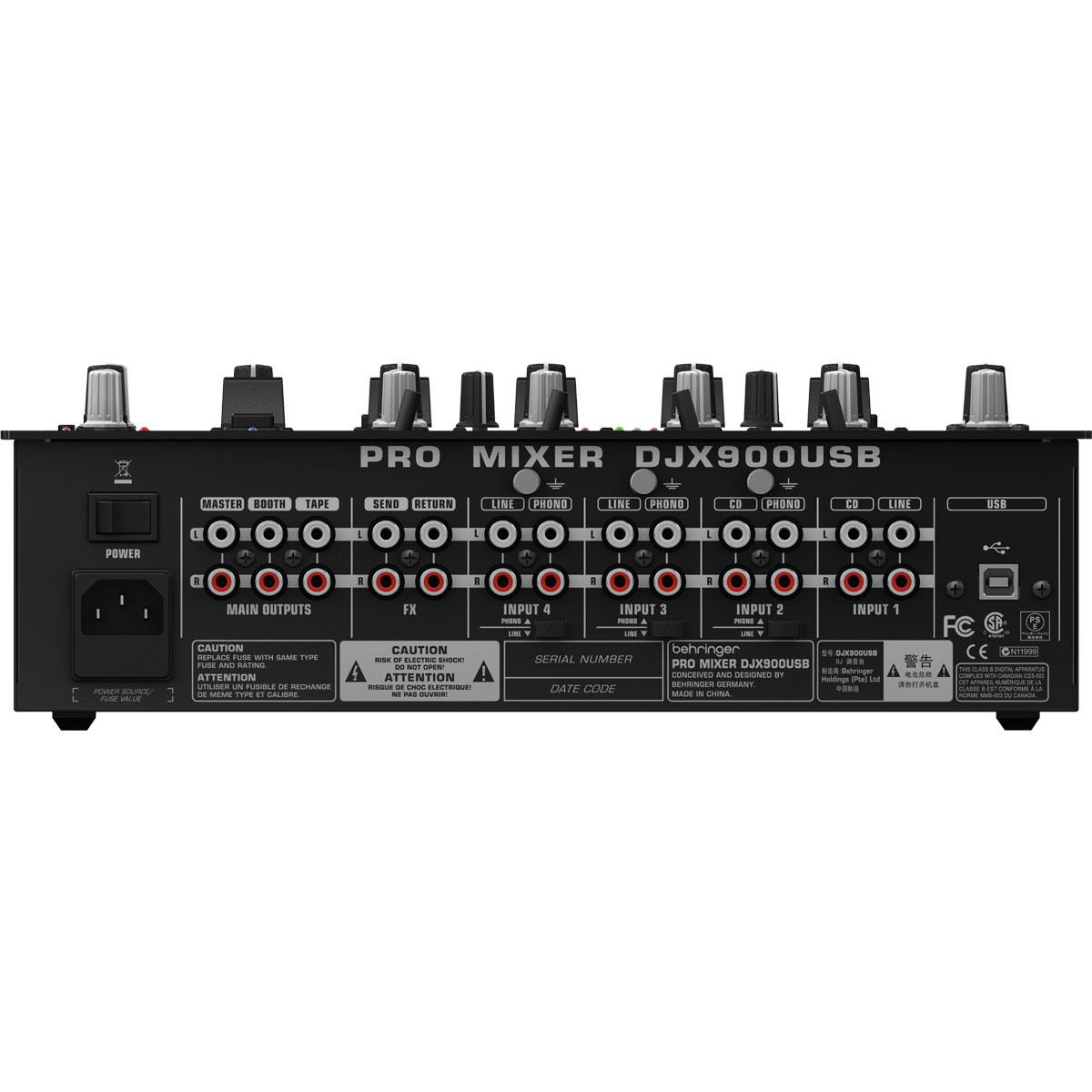 DJX900USB - Mixer DJ 5 Canais Pro Mixer DJX 900 USB - Behringer
