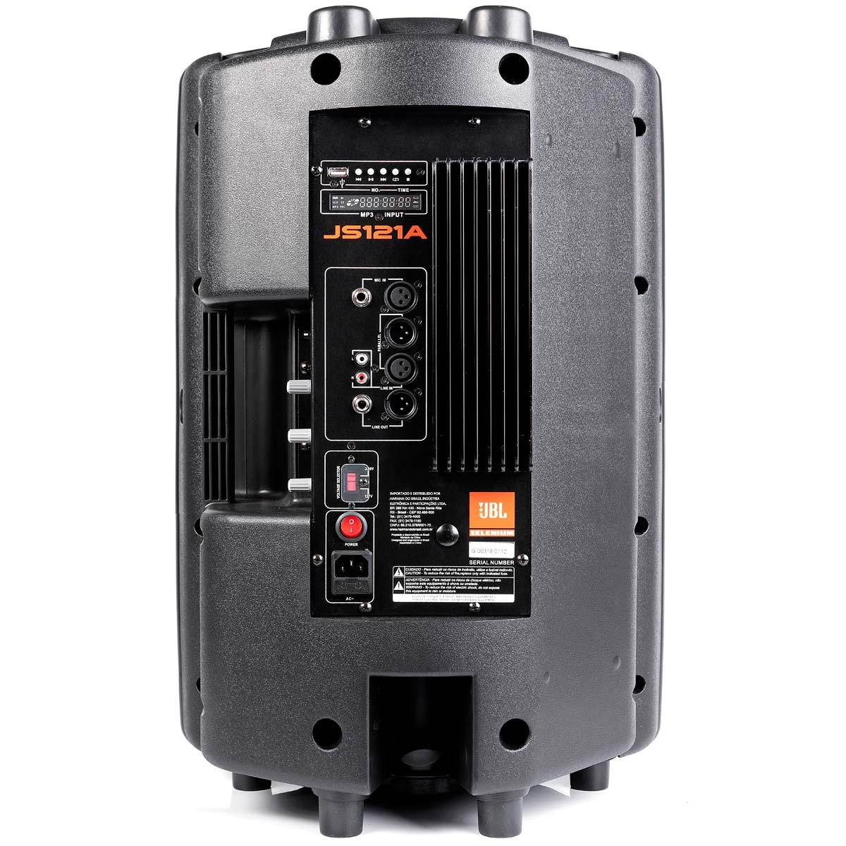 JS121A - Caixa Ativa 150W c/ Player USB JS 121 A - JBL