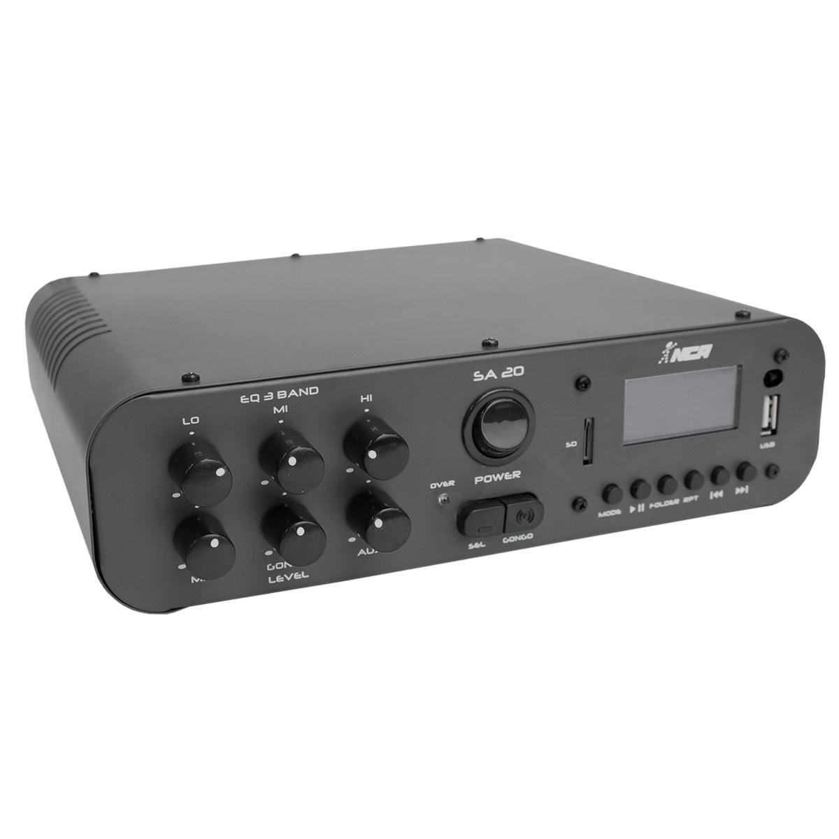 Amplificador Som Ambiente c/ USB 100W SA 20 - NCA