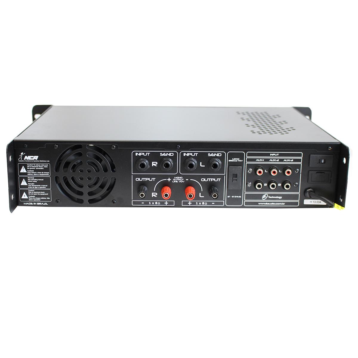 PWM300 - Amplificador c/ Pré Embutido e Equalizador 300W PWM 300 - NCA