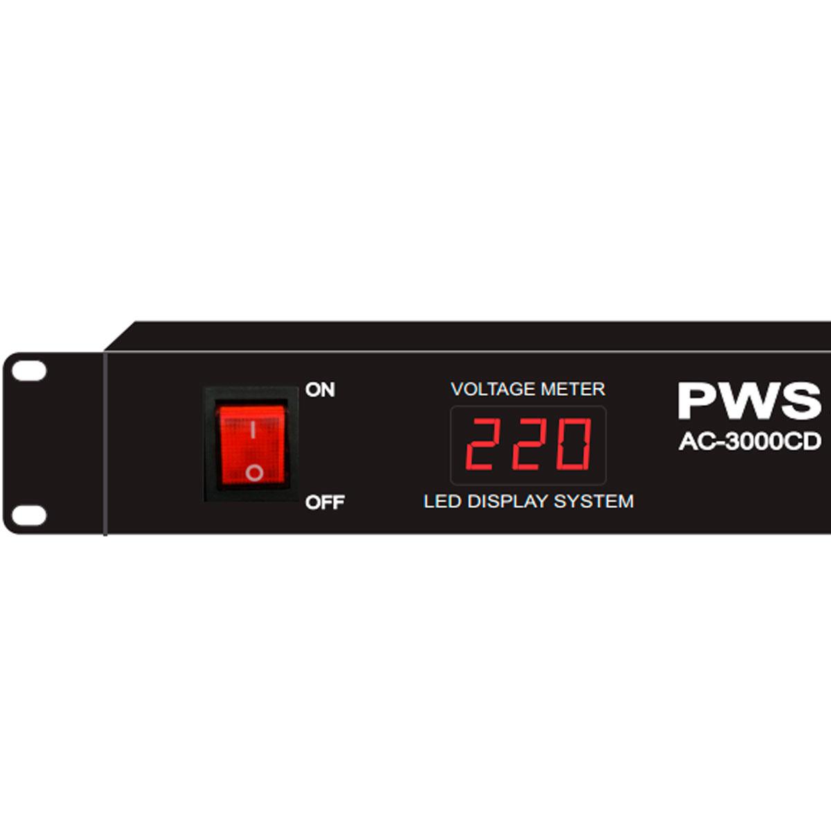 Filtro de Linha / Régua de Energia 3000W AC-3000 CD - PWS