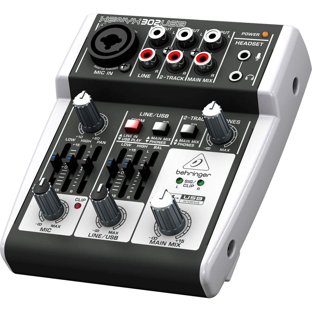 302USB - Mesa de Som / Mixer Compacto Xenyx 302 USB - Behringer