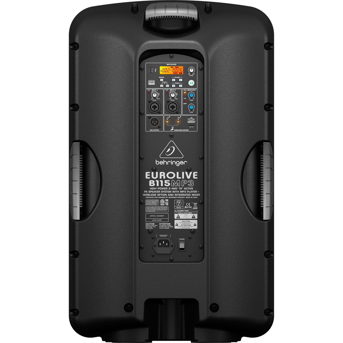 Caixa Ativa Fal 15 Pol 1000W c/ USB - B115 MP3 Behringer 110V
