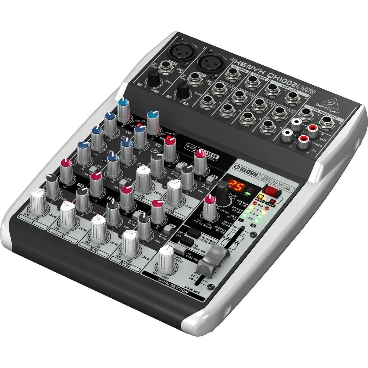 QX1002USB - Mesa de Som / Mixer 10 Canais USB Xenyx QX 1002 USB - Behringer