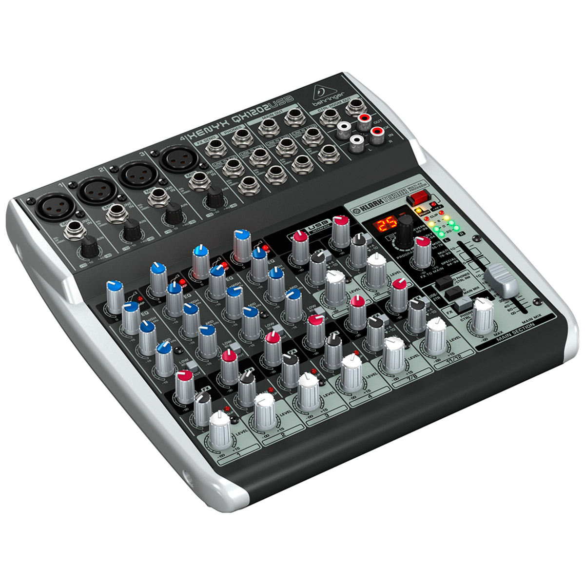 QX1202USB - Mesa de Som / Mixer 12 Canais Xenyx QX 1202 USB - Behringer