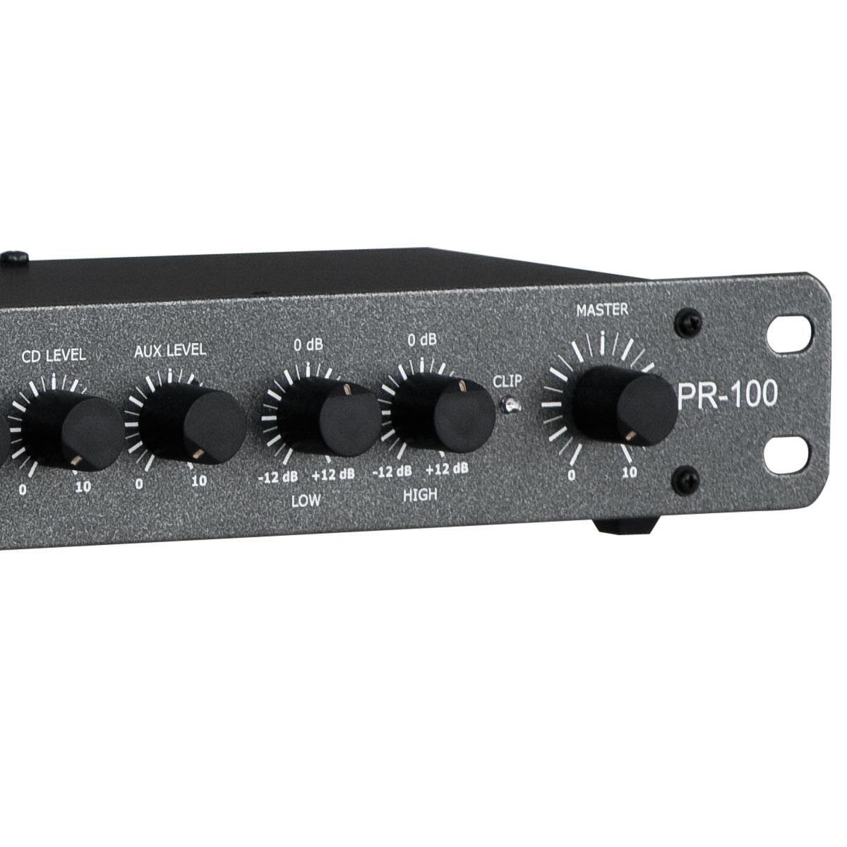 PR100 - Pré Amplificador c/ Gongo e Equalizador PR 100 - NCA