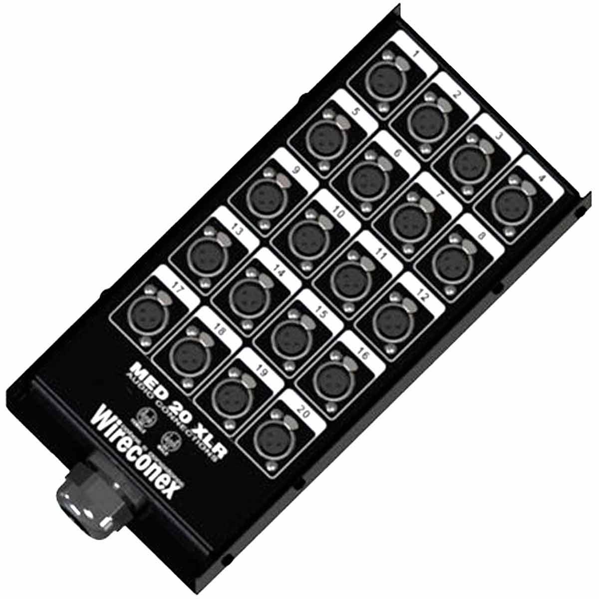 Painel com Conectores 20 Vias XLR Fêmea c/ Trava ( Completa ) - Wireconex