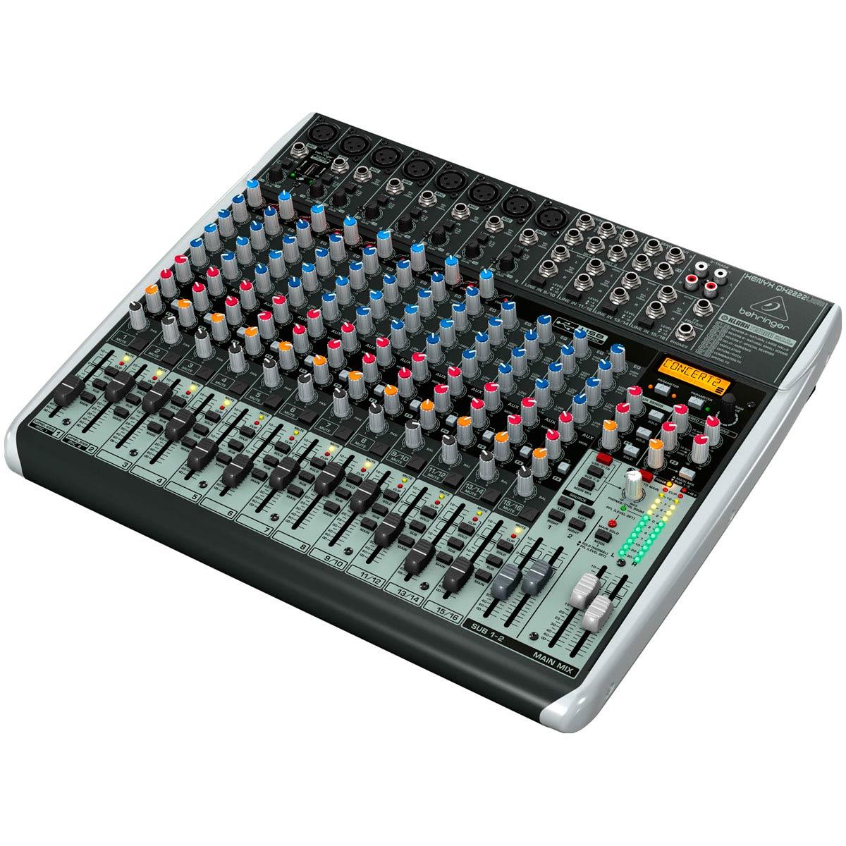 QX2222USB - Mesa de Som / Mixer 22 Canais Xenyx QX 2222 USB - Behringer