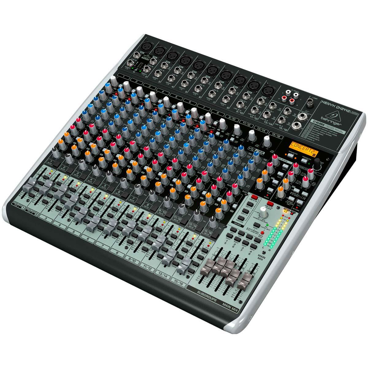 QX2442USB - Mesa de Som / Mixer 24 Canais Xenyx QX 2442 USB - Behringer