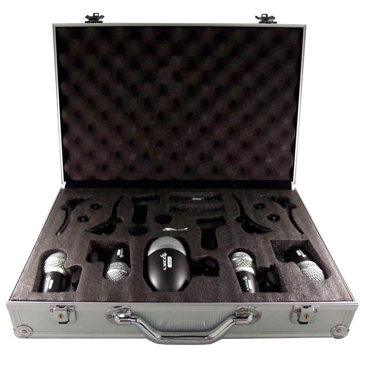 LDK 7PRO - Kit 7 Microfones c/ Fio p/ Bateria LDK-7PRO Lyco
