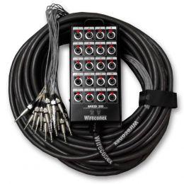 Multicabo Completo 20 Vias P10 ( Banana ) c/ Trava 25 Metros - Wireconex