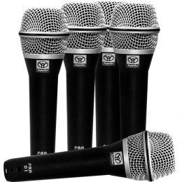 Kit 5 Microfones c/ Fio de Mão PRA-D5 Superlux