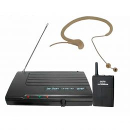 LS801HD85S - Microfone s/ Fio Headset / Cabe�a UHF LS 801 HD 85S - Le Son