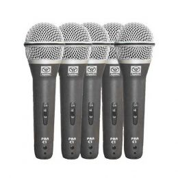 PRAC5 - Kit 5 Microfones c/ Fio de M�o PRA C 5 - Superlux