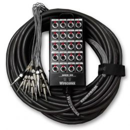 Multicabo Completo 20 Vias P10 ( Banana ) c/ Trava 20 Metros - Wireconex