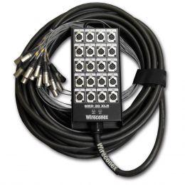 Multicabo Completo 20 Vias XLR ( Balanceado ) c/ Trava 20 Metros - Wireconex