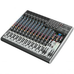 Mesa de Som 22 Canais Balanceados (8 XLR + 14 P10) c/ USB / Efeito / Phantom / 3 Auxiliares - Xenyx X 2222 USB Behringer