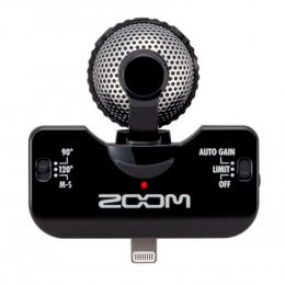Microfone p/ iPhone e iPad iQ5 ( Preto ) Zoom