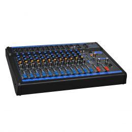 Mesa de Som 12 Canais XLR Balanceados c/ USB / Efeito / Phantom / 1 Auxiliar - OMX 12 USB Oneal