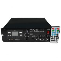 MPA1100USB20C - Amplificador Som Ambiente at� 20 Caixas 100W MPA 1100 USB 20C - PWS