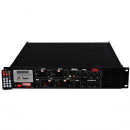 Pré Amplificador c/ Gongo e Equalizador 600W POWER MIX 2400 70V - Leacs
