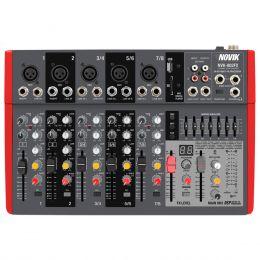 NVK802FX - Mesa de Som / Mixer 8 Canais USB 110V NVK 802 FX - Novik Neo