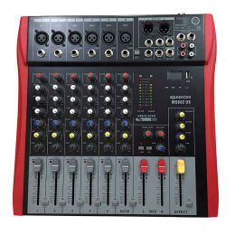 MS602ux - Mesa de Som / Mixer 6 Canais USB MS 602ux - Soundvoice