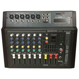MA630 - Mesa de Som / Mixer Amplificado 600W 6 Canais MA 630 - Soundvoice