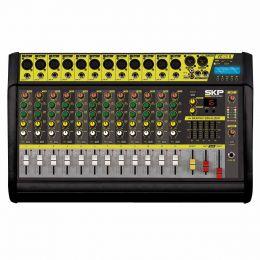 Mesa de Som 12 Canais XLR Balanceados c/ 500W / USB / Bluetooth / Efeito / Phantom / 1 Auxiliar - VZ 120 II SKP
