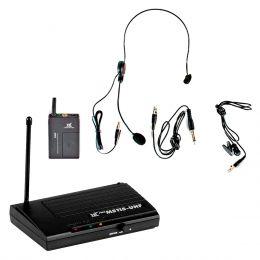 Microfone s/ Fio Headset e Lapela UHF MS 115 CLI - TSI