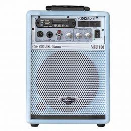 VSU100 - Cubo Multiuso Ativo 15W c/ Bluetooth e USB VSU 100 Azul - Voxstorm