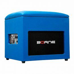 Caixa Ativa 60W c/ Bluetooth e USB Lounge Cube Azul - Borne