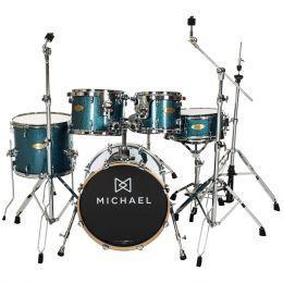 Bateria Acústica Bumbo 18 Polegadas Elevation DM851 BLS Azul Sparkle - Michael